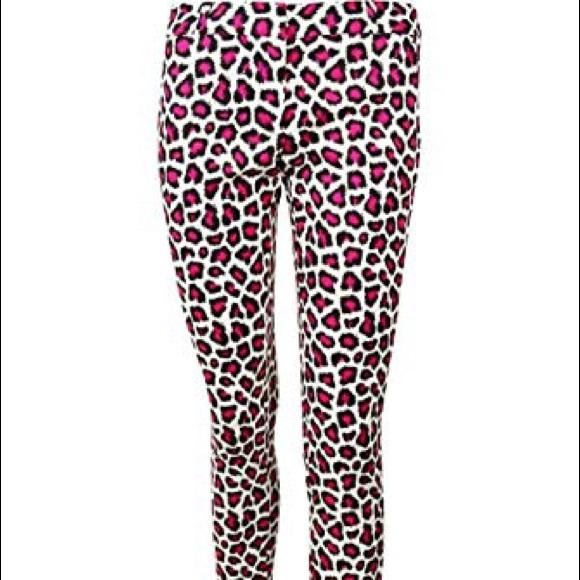 e69f858c41e4 Michael Kors Jeans   Pink Leopard Print Skinny   Poshmark